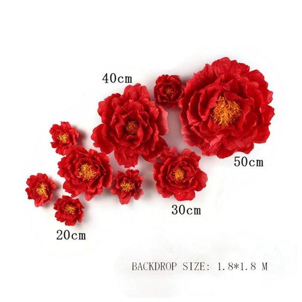 أحمر 9PCS