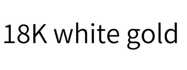 Oro blanco de 18k
