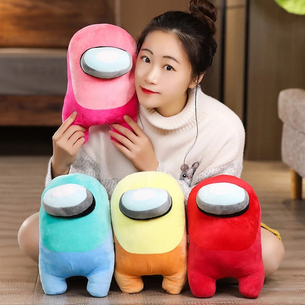 top popular 8 Colors Hot Game Among Us Plushie Toys 20cm Among Us Game Plushie Dolls Among Us Game Plushie Toys Christmas Gifts for Kids 2021