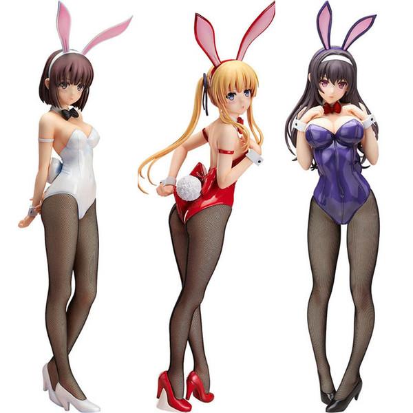 top popular Freeing Saekano How to Raise a Boring Girlfriend Eriri Kasumigaoka Megumi Bunny Girl PVC Action Figure Anime Figure Toys Doll X0121 2021