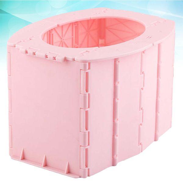 best selling Travel Foldable Closestool Car Portable Practical Toilet for Baby Infant Kids (Pink) LJ201110