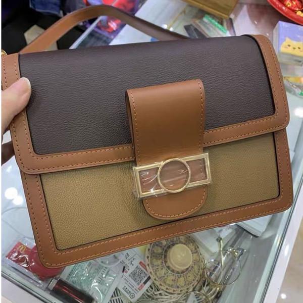 best selling 2021 postman's bag color matching lady's bag chain flip One Shoulder Messenger Bag wallet fashion embroidery lady handbag