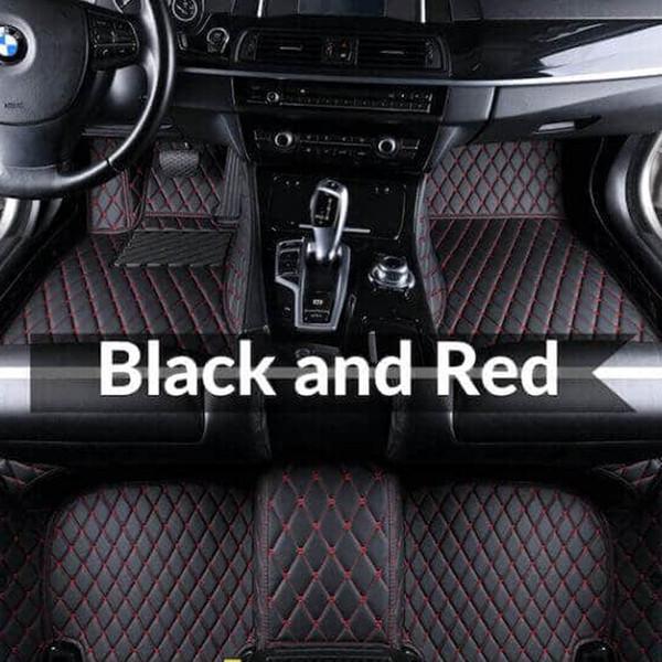 Kırmızı paspas ile siyah