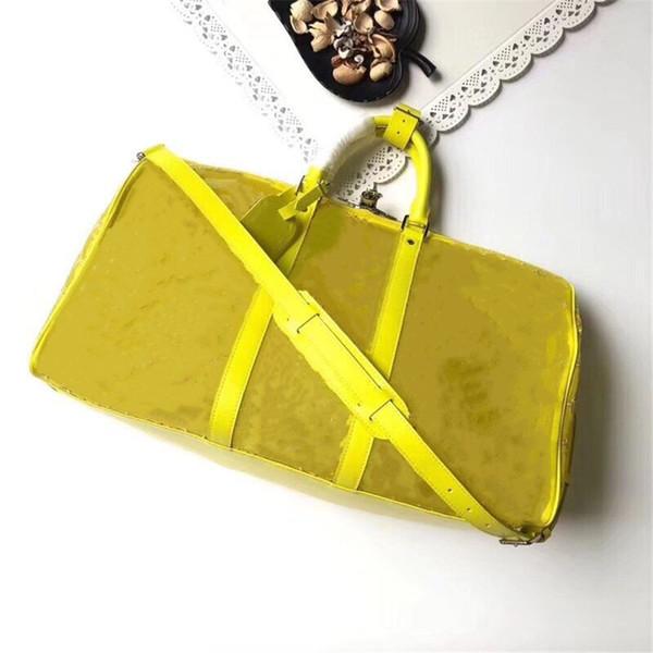 Желтая прозрачная сумка