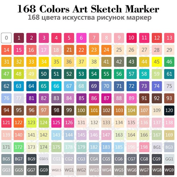 168 set di colori