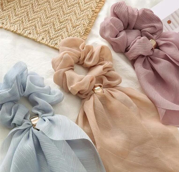 Korean Stylish Chiffon Hairband For Girls Bowknot Hair Accessories by Lace For Students fashion hairbands