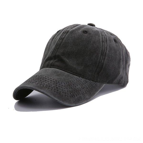 Gewaschene Baseballmütze - schwarz