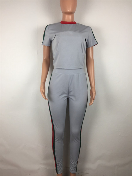 best selling women two piece set tracksuit shirt pants outfits short sleeve sportswear shirt trousers sweatsuit pullover tights sportswear hot klw0969