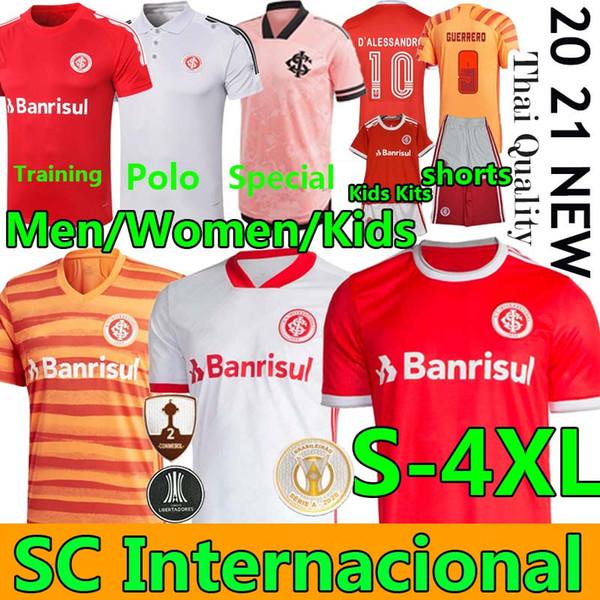 top popular 20 21 Brasileiro SC International D ALESSANDRO football jerseys men women kids kit EDENILSON GUERRERO soccer camisa POLO Training shorts 2020