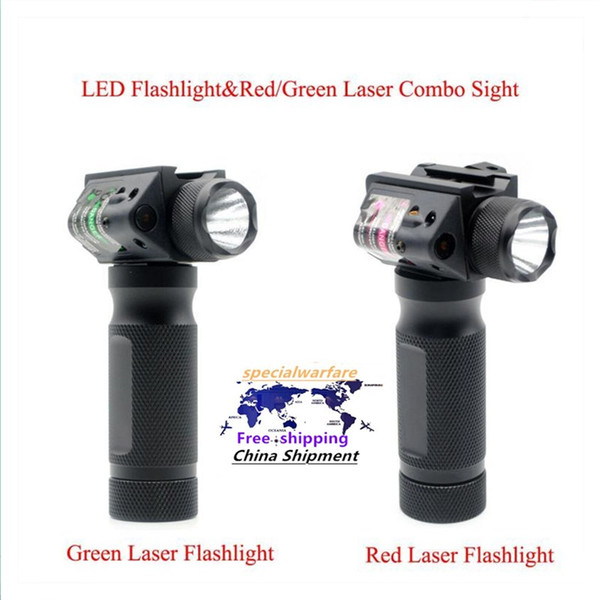 top popular Tactical Hunting LED Flashlight & Red Green Laser Combo Sight Tactical Gun Torch For 20mm Picatinny Rail 2021