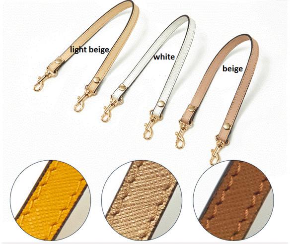 top popular Genuine Leather 1.2*33CM Replacement Short Single Shoulder Straps Bag Accessories Bag Handles Cross Pattern 2021