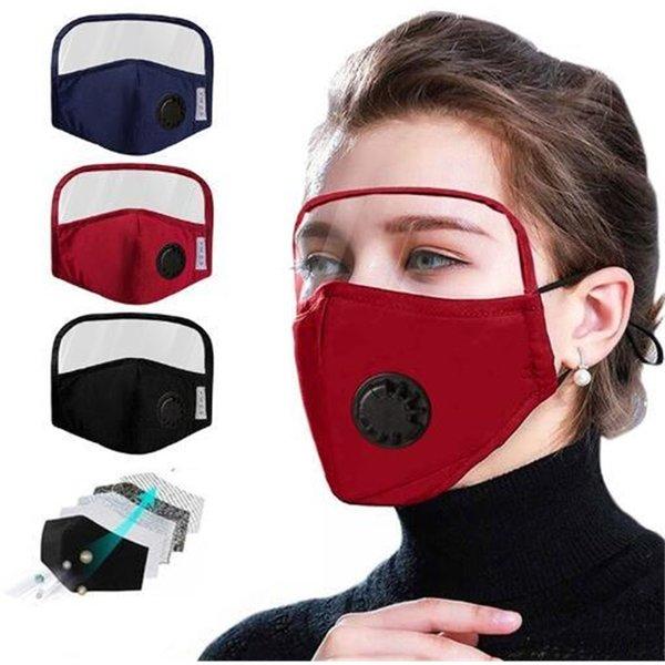 Máscara con las gafas