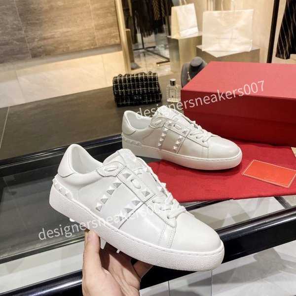 2021top new Mans Casual Shoes Fashion Mens Women Leather Breathable Shoes Open Low sports Sneakers yh200906