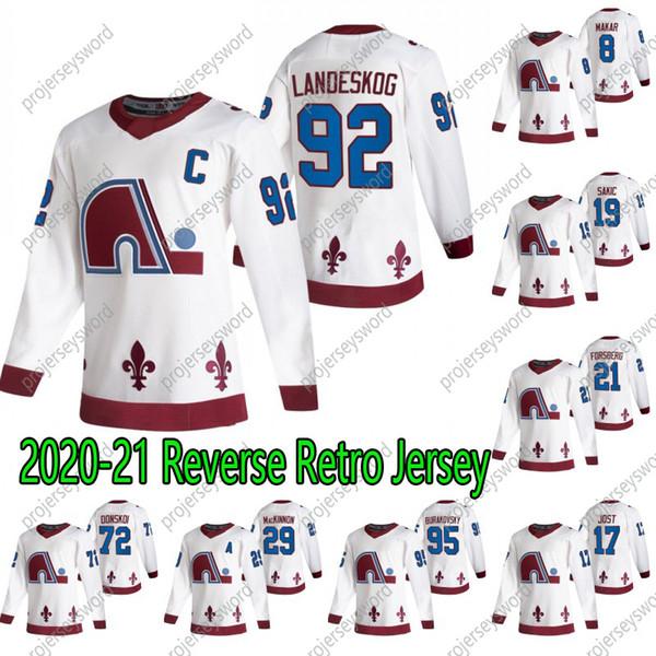 best selling Colorado Avalanche Nathan MacKinnon 2020-21 Reverse Retro Hockey Jersey Cale Makar Tyson Jost Gabriel Landeskog Mikko Rantanen Ian Cole