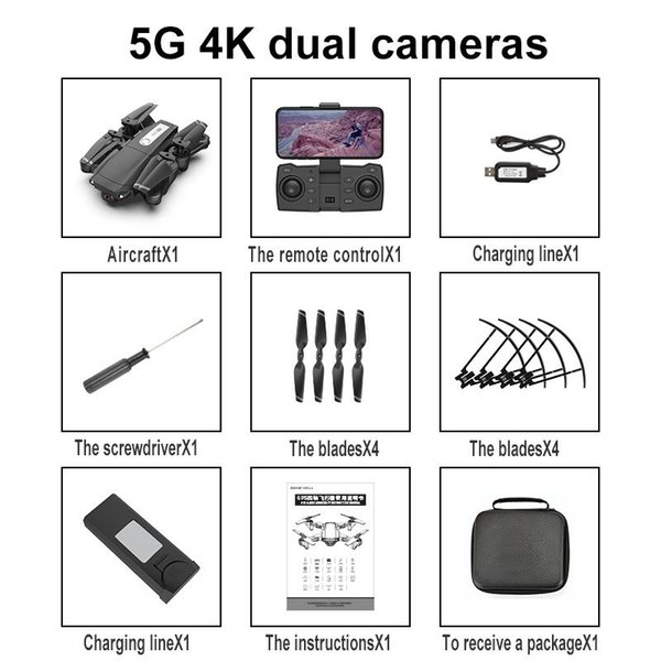 Schwarz 5G 4k Dualcam China