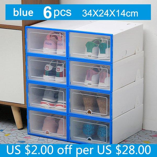 6pc 34x24x14cm Azul
