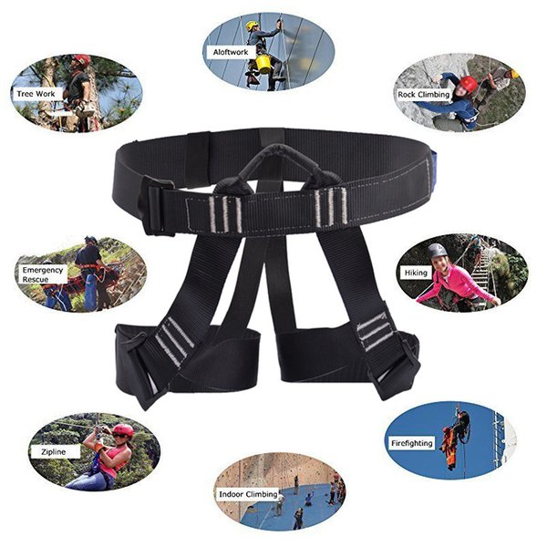 best selling Mountaineering Climbing Harness Falling Protection Safety Belt Fire Rescue Caving Tree Rock Rappelling Outdoor Work Safe Belt Q1118