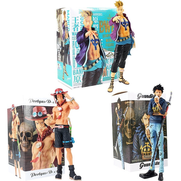 top popular One Piece marco Trafalgar Law Ace Action Figure Toy Grandista Portgas D Ace Anime Collectible Model Dolls Y200421 2021