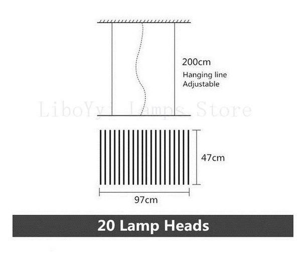 20 Lamp arm Black lamp body Dimming with