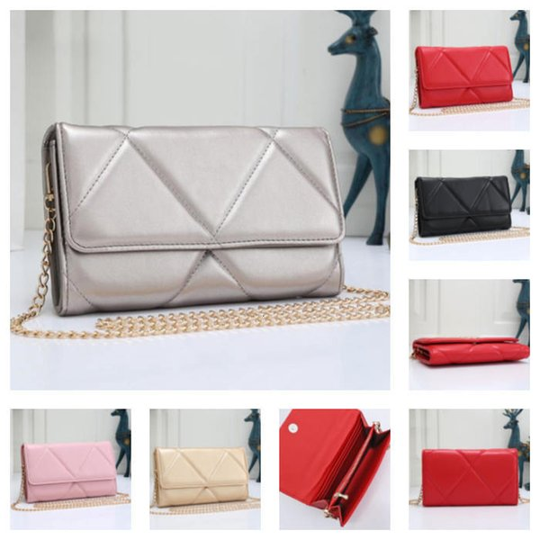 top popular Wholesale Ladies Shoulder Bag Fashion Leather Designer Classic Woman Messenger Bag Chain Diamond Party Girl Bag Free Shipping 2020