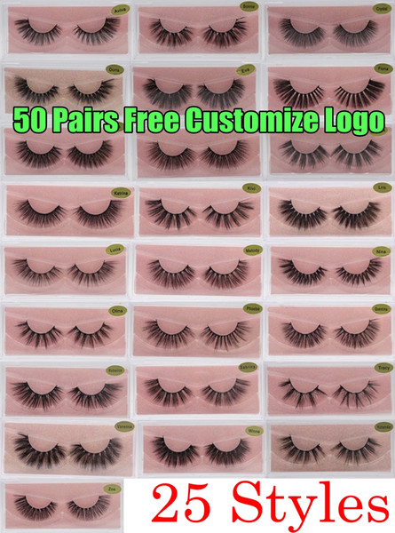 top popular 3D Mink Eyelashes Faux Natural False Eyelashes 3D Mink Lashes Soft make up Extension Makeup Fake Eye Lashes 3D Eyelash Free Customize Logo 2021