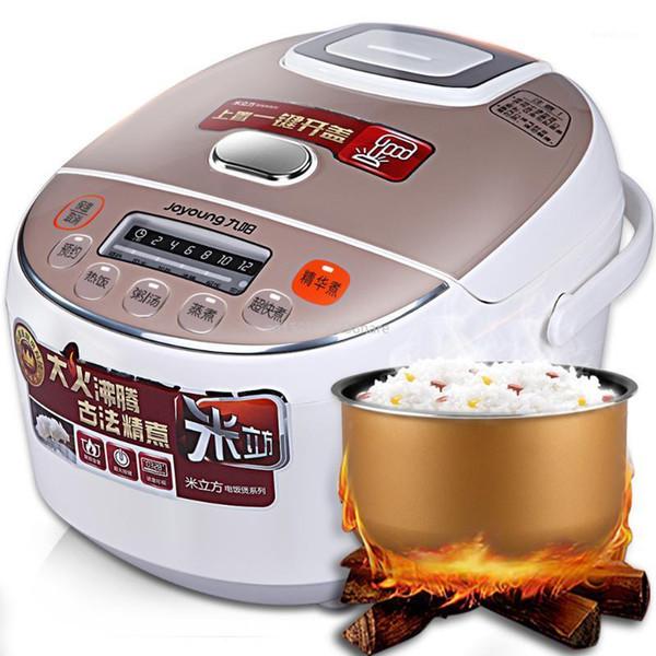 top popular 220V Electric Rice Cooker Micro-pressure Mini Rice Cooker Porridge Soup Stewing Smart Booking Non-stick Inner Pot 600w 3L1 2021