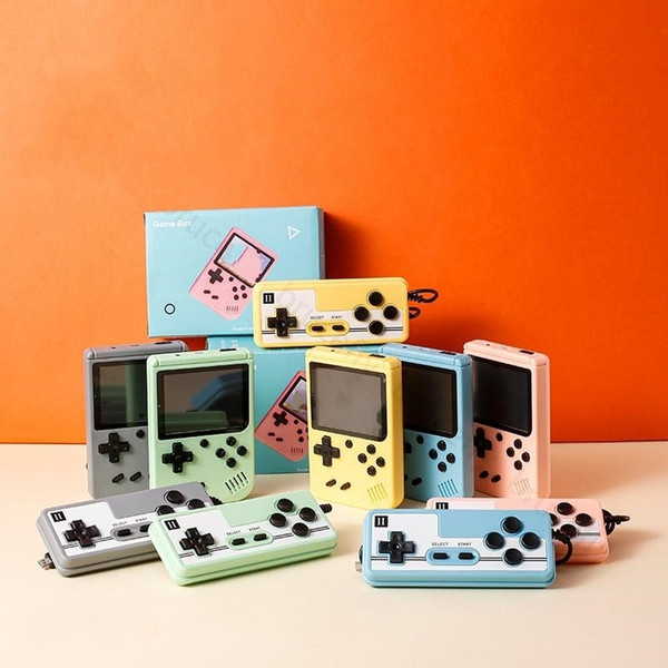 top popular Mini Handheld Macaron Game palyer 500 400 in 1 Retro Video Game Console 8 Bit 3.0 Inch Colorful LCD Support Two Players 2021