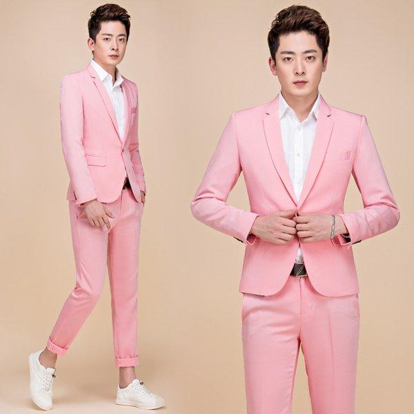 Pantalones de chaqueta rosa