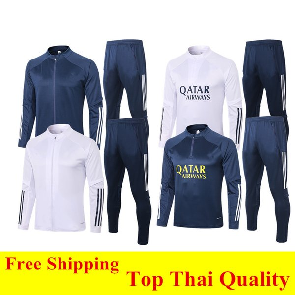 best selling Thai quality 2020 MARADONA Boca Juniors Soccer Jacket Survetement Training Suit 20 21 GAGO Sport Tracksuit Cotton Coat DE ROSSI Jogging Sets