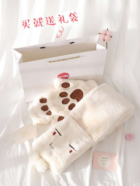 Two Piece Gift Bag (scarf + Fingerless Gloves)