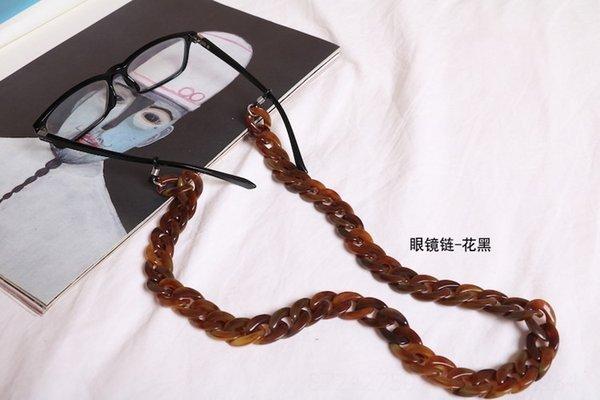 Corrente de óculos - flor preta