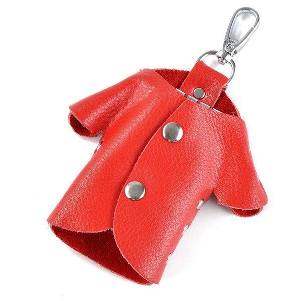 Bolsa de llavero rojo grande
