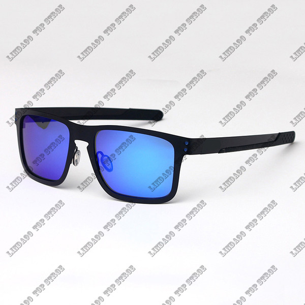 black frame blue lens