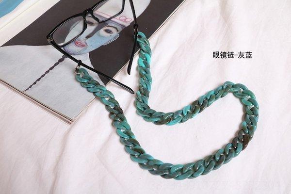 Corrente de óculos - cinza azul