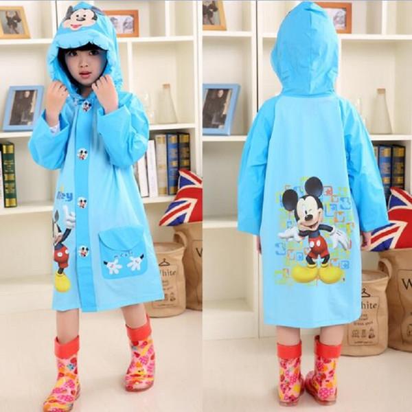 top popular Cartoon Mouse Raincoat Girls Boys Kids Waterproof Lovely Rain Coat for Baby Children Rainwear Outdoor Outwear Poncho Impermeable Q1123 2020