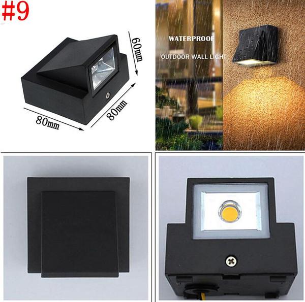 # 9 3W Водонепроницаемый настенный светильник