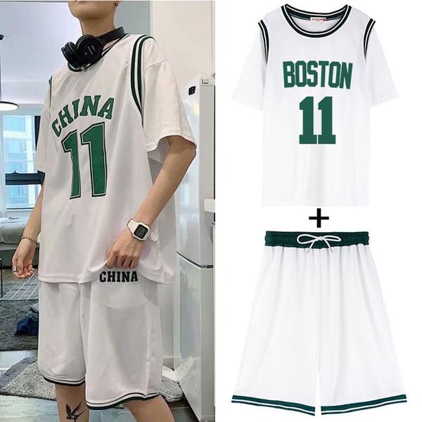 2005 Boston White Terno (mangas curtas + shorts)