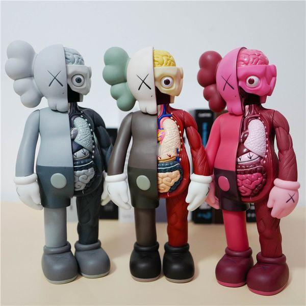 top popular HOT 15inches 37CM 1KG Originalfake KAWS Companion Original Box KAWS Action Figure model decorations toys gift 2021