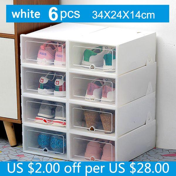 34x24x14cm White6pc