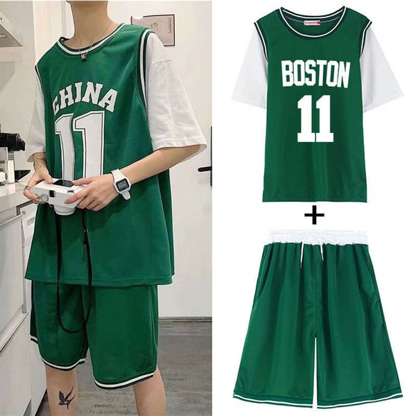2005 Boston Green Suit (manga curta + shorts)