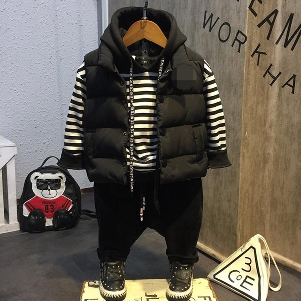 Three Piece Suit Autumn and Winter Cotton Children Clothing Height11 Three Piece Suit Autumn and Winter Cotton Children Clothing, Height:11