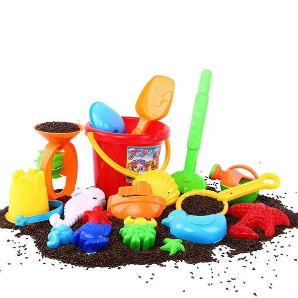best selling Beach bucket set children's educational toys play with water and sand tools with sand shovel animal sand model