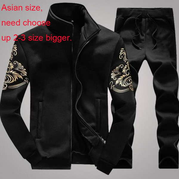 top popular Designer Tracksuit Men Sweat Suits Autumn Fashion Mens Jogger Suits Jacket + Pants Sets Sporting Suit Hip Hop Sets High Quality 2020