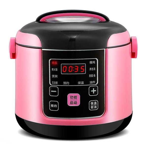 top popular 2L Smart Electric Rice Cooker Intelligent Automatic Kitchen Cooker Portable Preservation Rice Cooking Machin Multicooker 2021