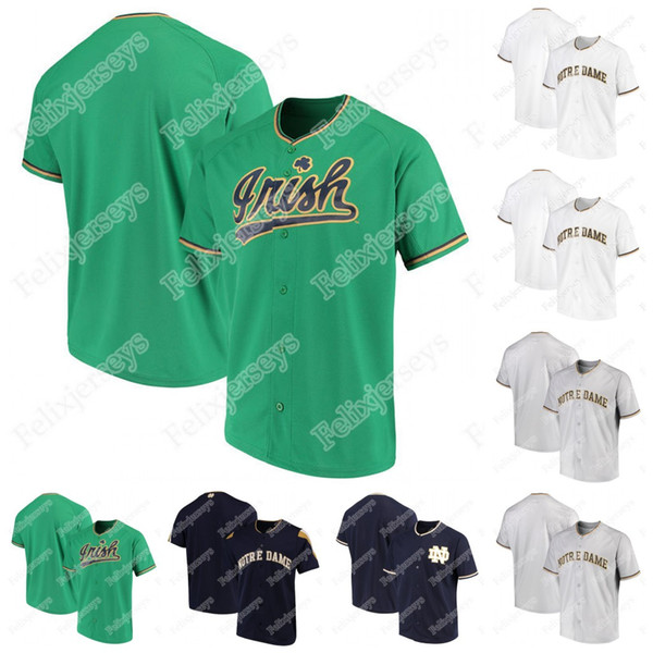 best selling Custom Notre Dame Fighting Irish NCAA College Baseball Jersey For Mens Womens Youth Double Stitched Name and Number Baseball Jersey
