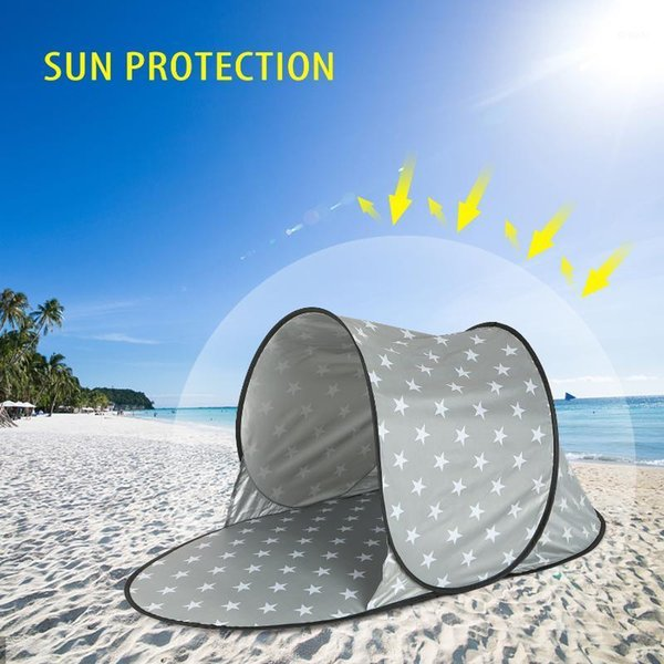 best selling Automatic Outdoor Camping Tent Waterproof Anti UV Beach Tent Ultralight Up Summer Sea Sun Shelters Awning Sunshade1