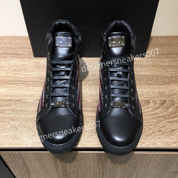 the new Man latest small dirty shoes dirty, soft and comfortable, fashionable high-rise sports shoes cy190801
