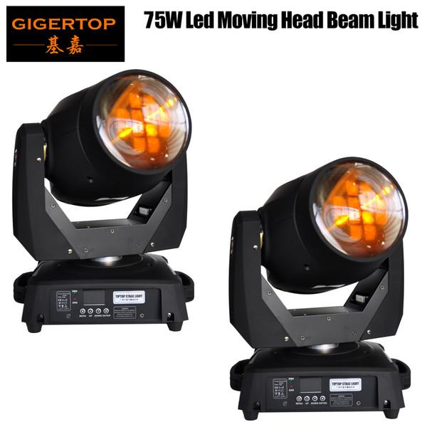 top popular Freeshipping 2pcs lot China 75W Led Moving Head Light Beam 15 19 Channels Led Stage Light Prosm Lens 8 Prism Lens Beam Wash TP-L606A 2021