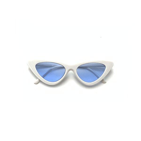 White Frame And Blue Slice