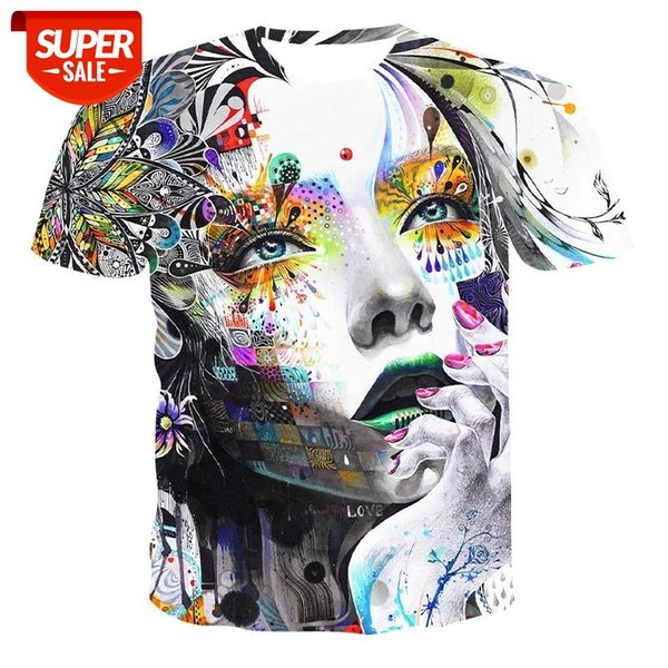 top popular New round neck T-shirt men's high-quality men's T-shirt short-sleeved breathable pattern 3D printed fashion handsome T-shi #948n 2021